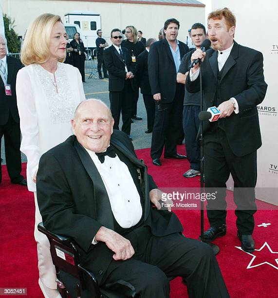 An unidentified woman Bewitched Creator Sol Saks and Actor Danny Bonaduce attend the 2nd Annual TV Land Awards held at The Hollywood Palladium March...