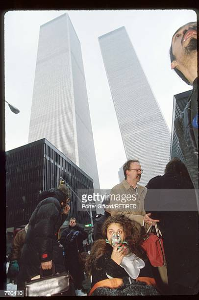 An unidentified women breathes oxygen while a man talks to her February 26 1993 in New York City Ramzi Yousef was found responsible for the bombing...