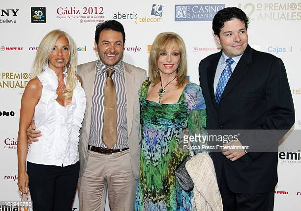 An unknown person Albert Castillon Silvia Tortosa and Carlos Canovas attend the 'Spanish Academy Television Awards 2010' at Teatros del Canal on June...