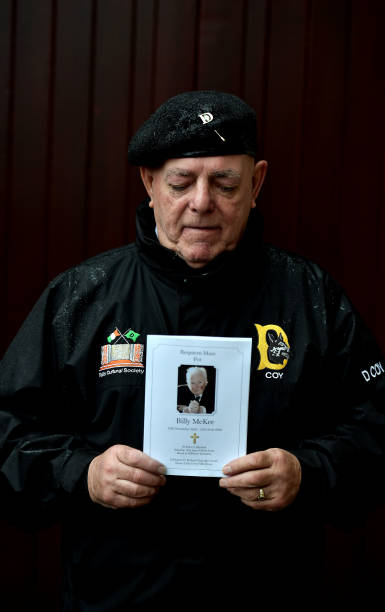 GBR: Mourners Attend The Funeral Of Veteran Republican Billy McKee