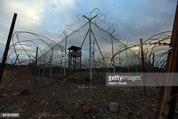 An unstaffed tower in an abandoned portion of Guantanamo's Detention Center Zone on February 12 2017 The military approved release of this photo