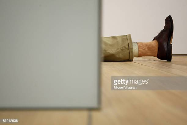 An untiteld art installation by Robert Gober is pictured at the museum Brandhorst on May 15 2009 in Munich The museum which shows works from the...