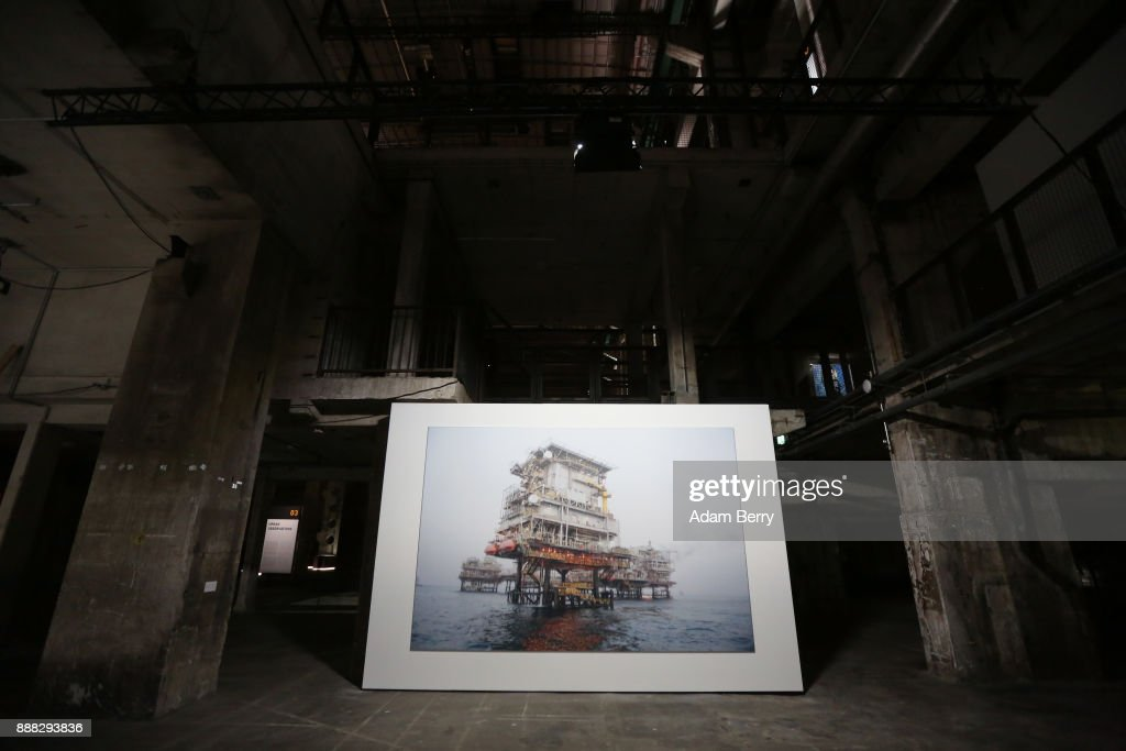An untitled photograph by Khalifa Al OBaidli is seen prior to the opening of the 'Art From Qatar' exhibition at Kraftwerk Berlin on December 8, 2017 in Berlin, Germany. The exhibition, in a former East German power plant, will feature 294 works from 73 artists. It opens on December 9 and runs until January 3.