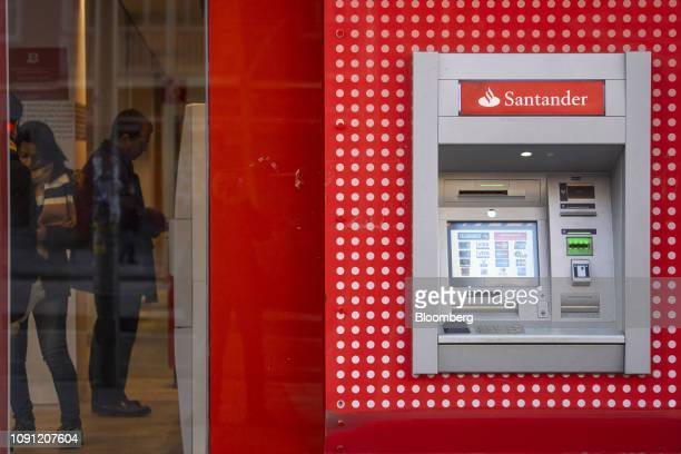 An unused automated teller machine sits outside a Banco Santander SA bank branch in Madrid Spain on Wednesday Jan 30 2019 Were very very focused on...