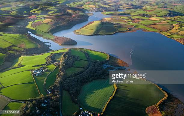 CONTENT] An unusual perspective of the River Lynher in Cornwall captured from a Cessna light aircraft just before sunset on a clear winters day The...