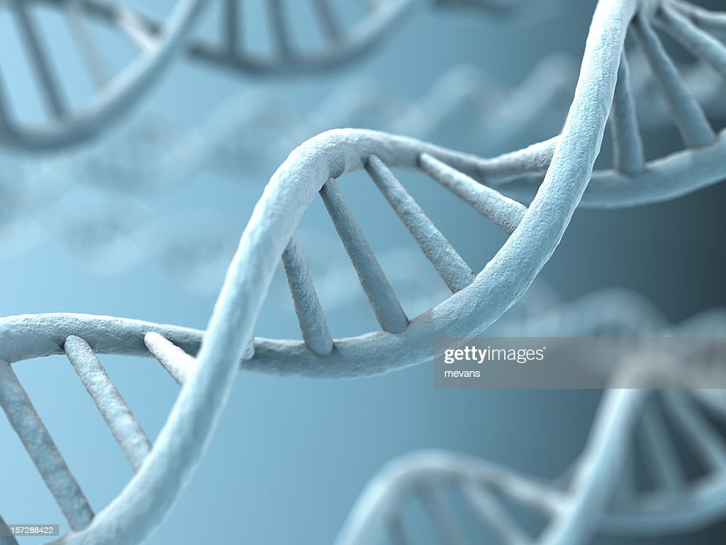 An up close picture of DNA strands : Stockfoto