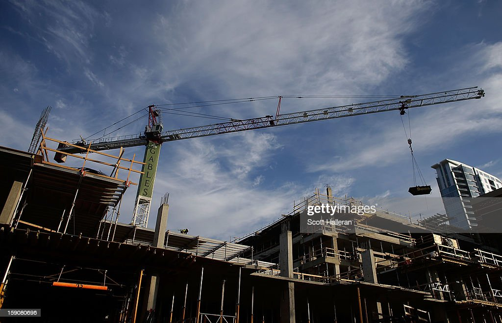 An upscale apartment project is seen during construction in the Upper Kirby area on January 7, 2013 in Houston, Texas. Houston's success with job growth in recent years has placed the city among the top markets in the country for elevated income levels, according to reports.