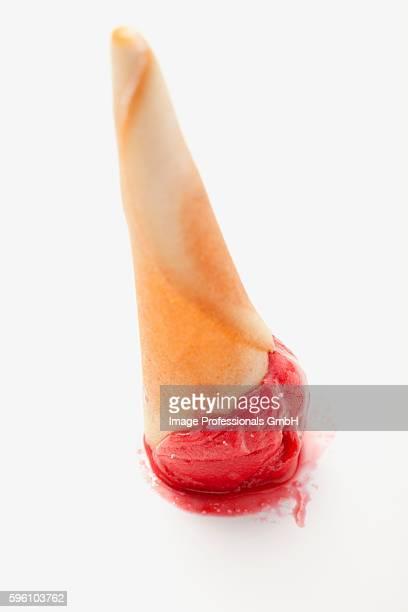 An upside down ice cream cone