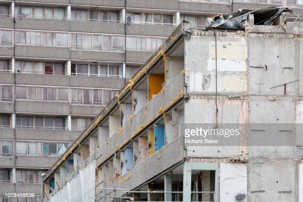An urban landscape on the soontobe demolished Aylesbury Estate on 4th September 2018 in Southwark London England The Aylesbury Estate contained 2704...
