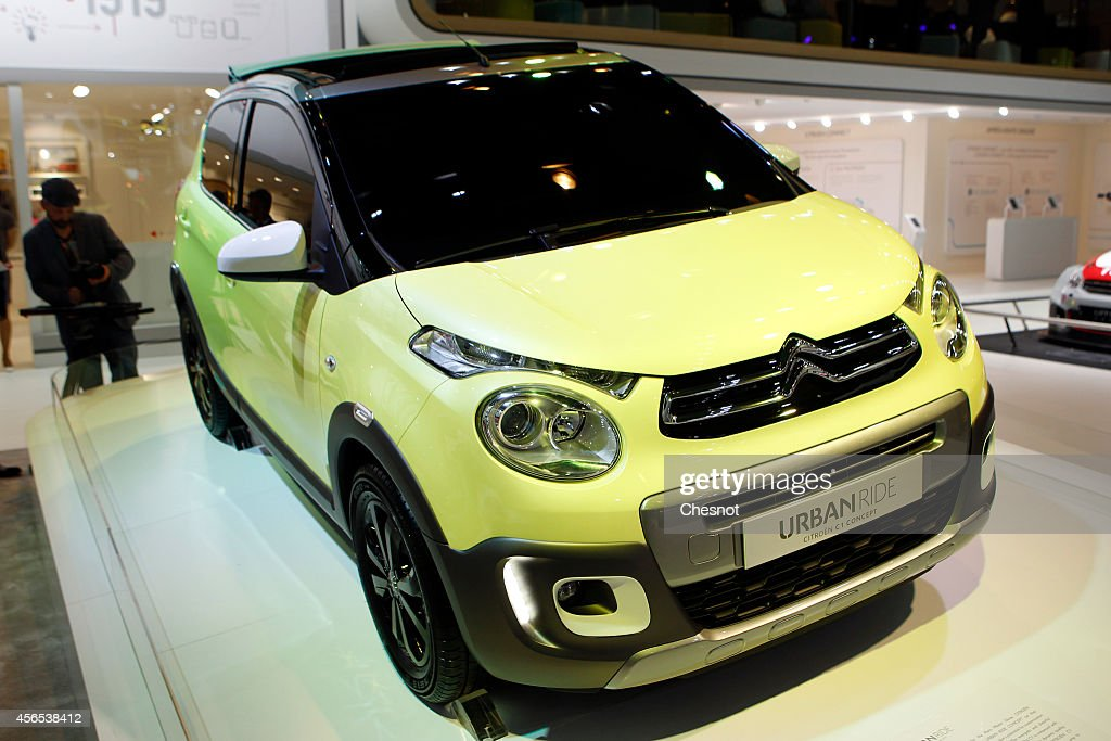 An Urban ride concept car produced by Citroen is presented during the press day of the Paris Motor Show on October 02, 2014, in Paris, France. The Paris Motor Show will showcase the latest models from the auto industry's leading manufacturers at the Paris Expo exhibition centre.