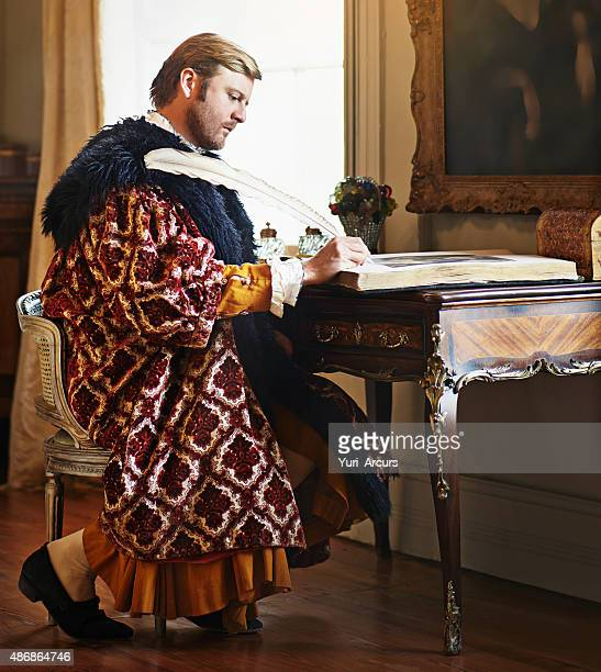 an urgent letter to my king and liege - king royal person stock photos and pictures