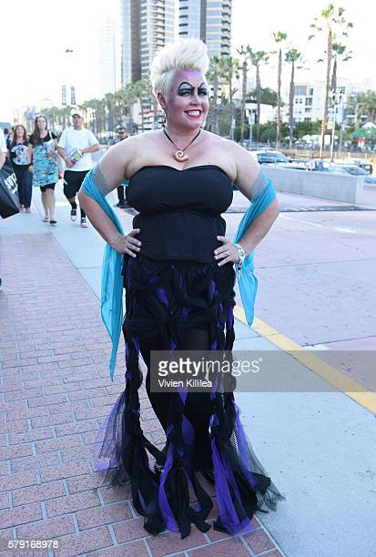 An ursula cosplayers attends ComicCon International 2016 on July 20 2016 in San Diego California