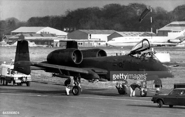 An USAF Fairchild Republic A10 Thunderbolt II close air support 'tankbuster' aircraft was forced to make an emergency landing at Newcastle Airport...