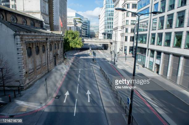 An usual crowded street looks empty on March 31 2020 in London England British Prime Minister Boris Johnson announced strict lockdown measures urging...