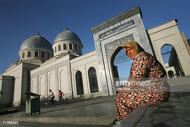 An Uzbek woman outside the Juma Mosque on August 16 2006 in Tashkent in the central Asian country of Uzbekistan Fifteen years after the breakup of...