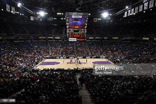 An view of the arena during the NBA game of the Sacramento Kings against the Phoenix Suns on December 30 2007 at Arco Arena in Sacramento California...