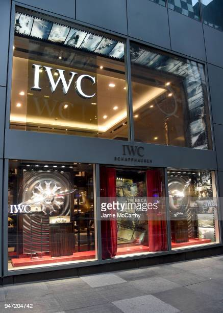 An view of the window displays at the IWC Tribeca Film Festival Filmmaker Award Celebration on April 16 2018 in New York City