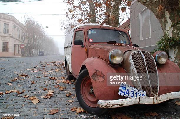 An vintage car in the streets of Colonia de Sacramento, Uruguay.