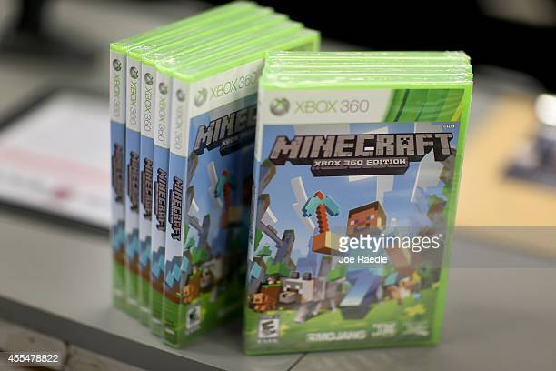 An XBox 360 Minecraft game is seen at a GameStop store on Septemeber 15 2014 in Miami Florida Microsoft today announced it will acquire video game...