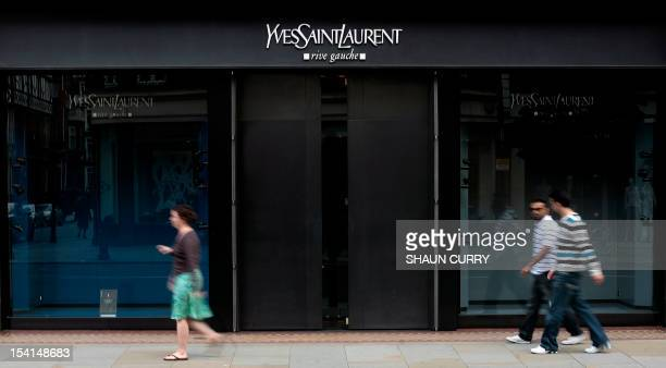 An Yves Saint-Laurent shop closes in London during the funeral of the French fashion designer, on June 5, 2008. Saint Laurent, one of the 20th...