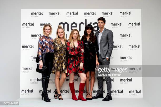 Ana Abadalejo Esmeralda Moya Marta Hazas and Javier de Miguel attend Merkal Flash Presentation in Madrid on October 18 2018 in Madrid Spain