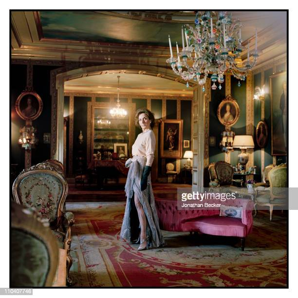 Ana Abascal is photographed in the music room of the Palacio de Liria for Vogue Espana on March 15-17, 2010 in Madrid, Spain. Published image.