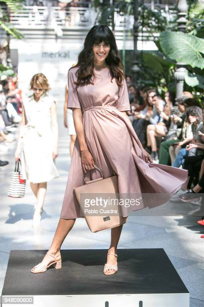 Ana Albadalejo walks the runway during the Merkal fashion show at Atocha greenhouse on April 18 2018 in Madrid Spain