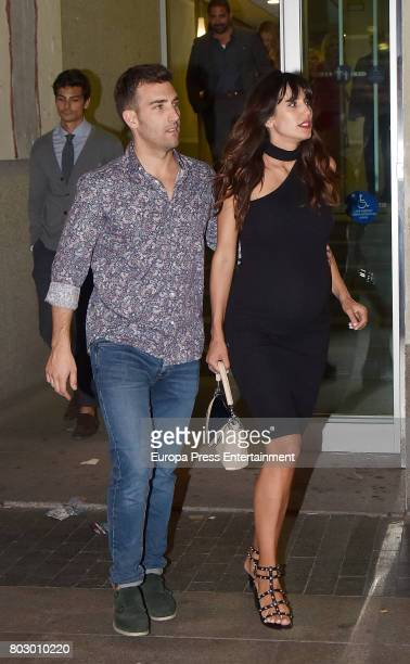 Ana Albaladejo is seen leaving a party the day before the wedding of the model Clara Alonso and Robert Serafin on June 2 2017 in Madrid Spain