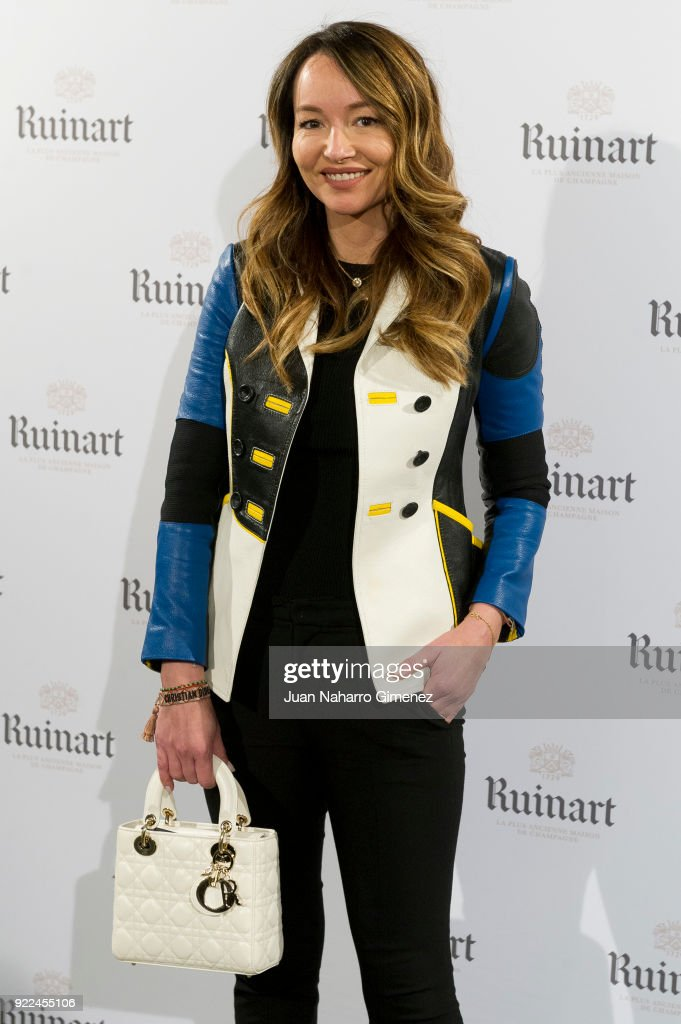 Ana Antic attends the celebration of the new ARCO edition with Ruinart at Marlborough Garelly on February 21, 2018 in Madrid, Spain.
