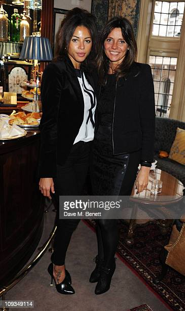 Ana Araujo and Debbie von Bismarck attend the private screening of 'To Die For' to launch Charlotte Olympia's new collection at Mark's Club on...