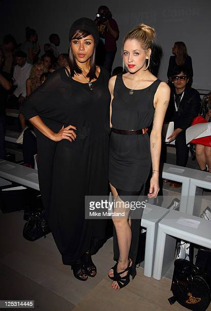 Ana Araujo and Peaches Geldof attend the Felder Felder show at London Fashion Week Spring/Summer 2012 on September 16 2011 in London England