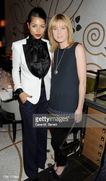 Ana Araujo and Roisin Murphy attend a dinner hosted by Simon Lee Gallery celebrating American artist George Condo following a private viewing of his...