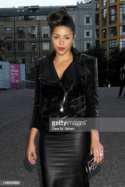 Ana Araujo arrives at the Warner Music Group PreOlympics Party in the Southern Tanks Gallery at the Tate Modern on July 26 2012 in London England