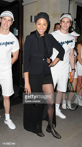 Ana Araujo attends Slazenger Wimbledon Party held at Aqua Nueva Restaurant club on June 28 2012 in London England