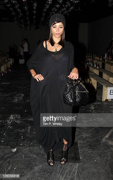 Ana Araujo attends the Jena Theo show at London Fashion Week Spring/Summer 2012 on September 16 2011 in London United Kingdom