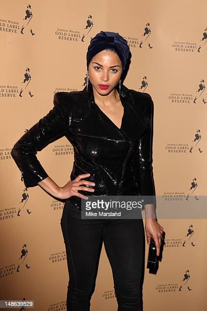 Ana Araujo attends the launch of Johnnie Walker Gold Label Reserve at Whisky Mist on July 18 2012 in London England