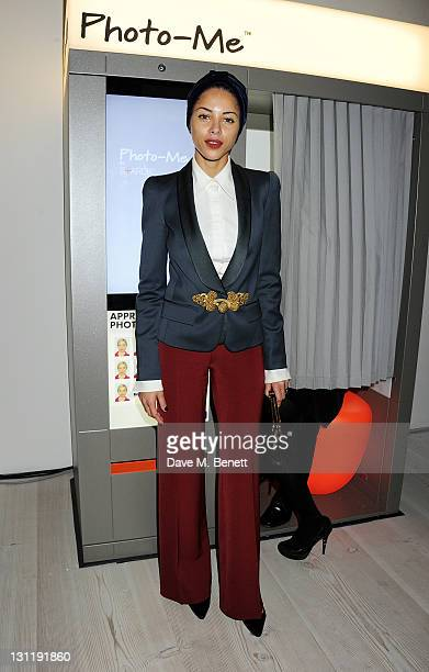 Ana Araujo attends the launch of the 'PhotoMe By Starck' Photobooth at the Saatchi Gallery on November 2 2011 in London England