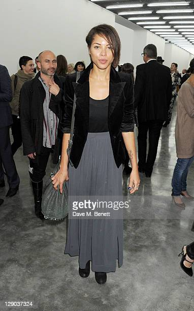Ana Araujo attends the opening of the new White Cube Bermondsey gallery on October 11 2011 in London England