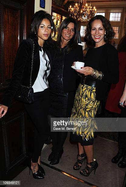 Ana Araujo, Debbie von Bismarck and Andrea Dellal attend the private screening of 'To Die For' to launch Charlotte Olympia's new collection at Mark's...