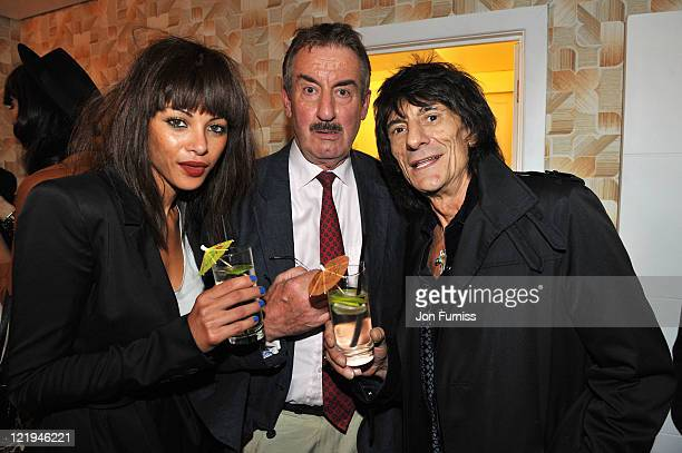 Ana Araujo John Challis and Ronnie Wood attend the Gold Nelson Mandela House launch celebrating Only Fools at 30 on Gold on August 23 2011 in London...