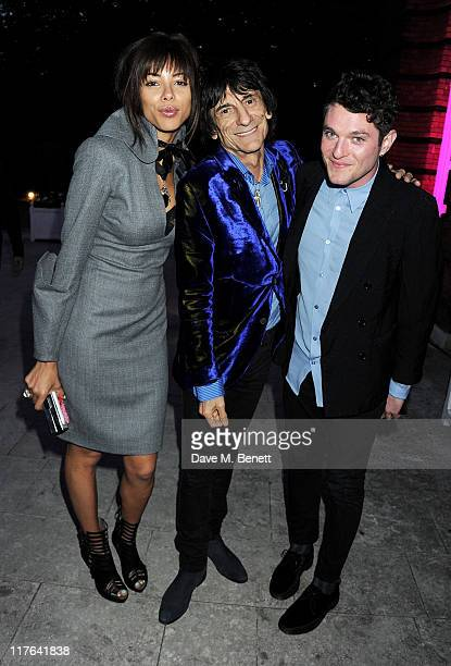 Ana Araujo Ronnie Wood and Matthew Horne attend the English National Ballet Summer Party held at The Orangery at Kensington Palace on June 29 2011 in...