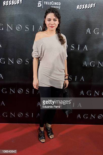 Ana Arias attends Agnosia premiere at Capitol cinema on November 4 2010 in Madrid Spain