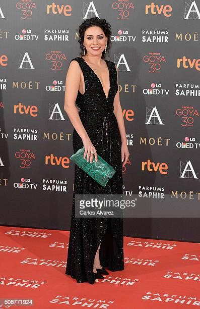 Ana Arias attends Goya Cinema Awards 2016 at Madrid Marriott Auditorium on February 6, 2016 in Madrid, Spain.