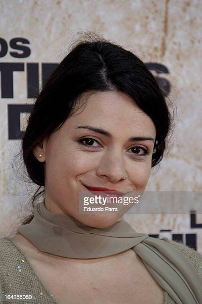 Ana Arias attends 'Los ultimos dias' premiere photocall at Capitol cinema on March 21 2013 in Madrid Spain