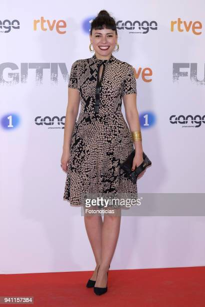 Ana Arias attends the 'Fugitiva' Tv series premiere at Callao cinema on April 2 2018 in Madrid Spain