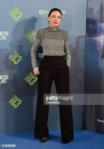 Ana Arias attends the 'Shades of Blue' premiere at Callao Cinema on April 5 2016 in Madrid Spain
