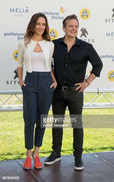 Ana Asensio and Peter Phok pose during a photocall for his latest film 'Most Beautiful Island' at the Sitges Film Festival 2017 on October 5 2017 in...