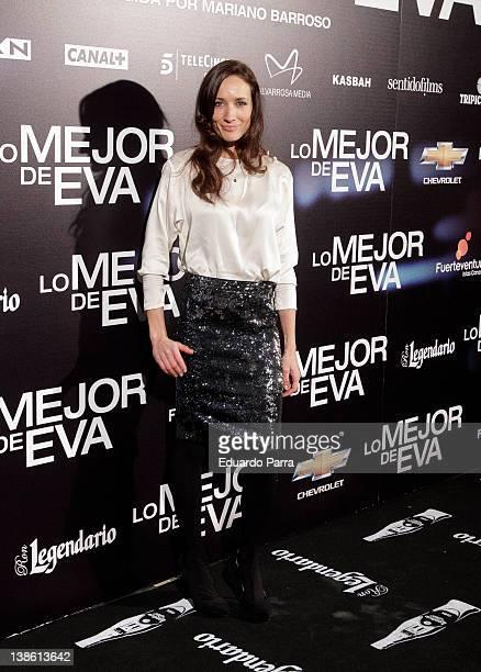 Ana Asensio attends 'Lo mejor de Eva' photocall premiere at Callao cinema on February 9 2012 in Madrid Spain