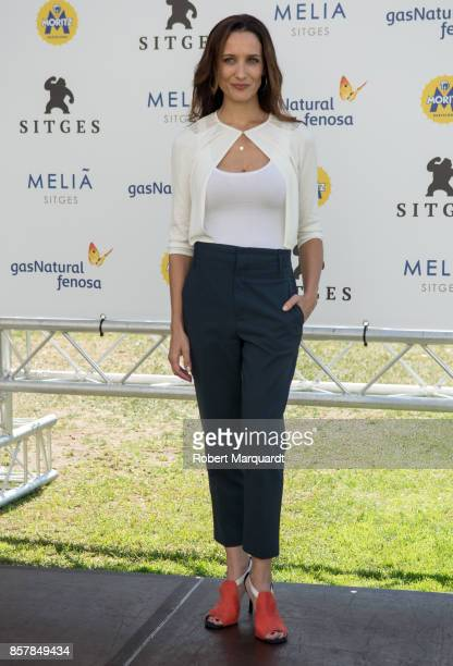 Ana Asensio poses during a photocall for her latest film 'Most Beautiful Island' at the Sitges Film Festival 2017 on October 5 2017 in Sitges Spain