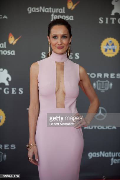 Ana Asensio poses on the red carpet at the Sitges Film Festival 2017 on October 5 2017 in Sitges Spain